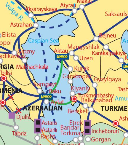 ロシア以外の4国の港湾を接続