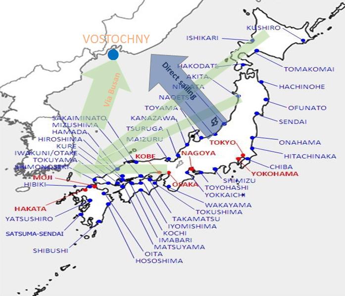 日本サービス可能港一覧